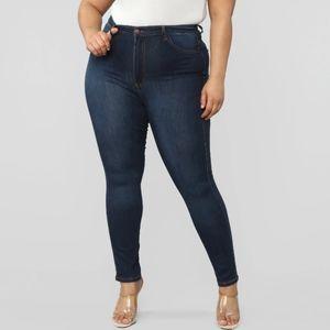 Plus Sized Classic High Waist Skinny Jeans
